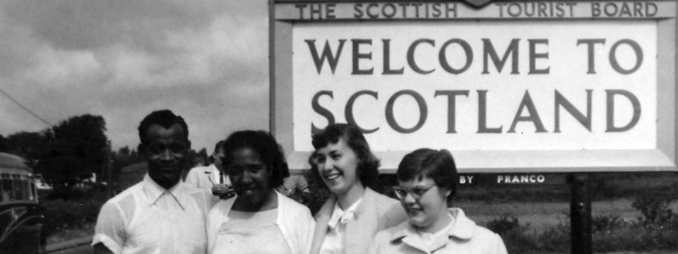 Floyd Ruth Robin Raydelle at Scotland sign