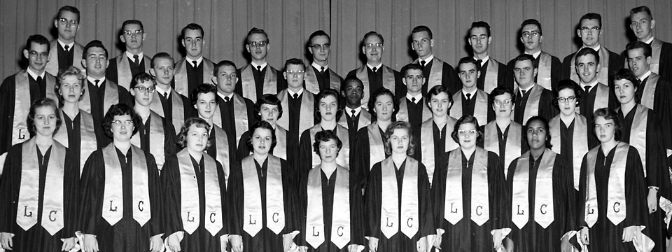 1958 choir posed