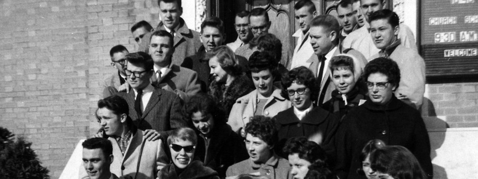 1960 choir members on steps