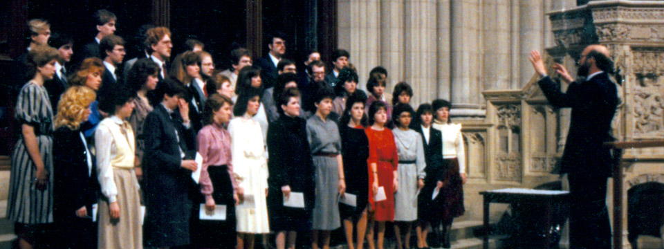 1985 choir at National Cathedral
