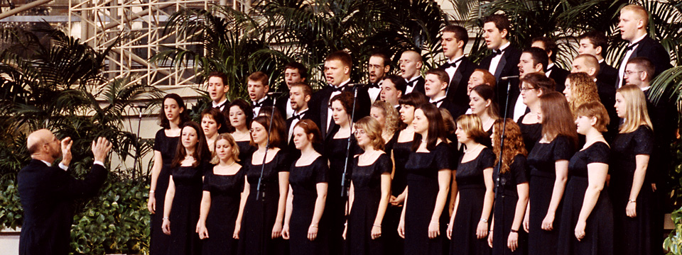 2002 tour choir at Crystal Cathedral