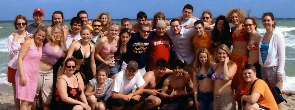 2004 choir at beach
