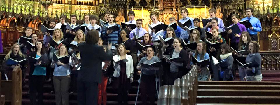 2015 tour choir in Montreal cathedral