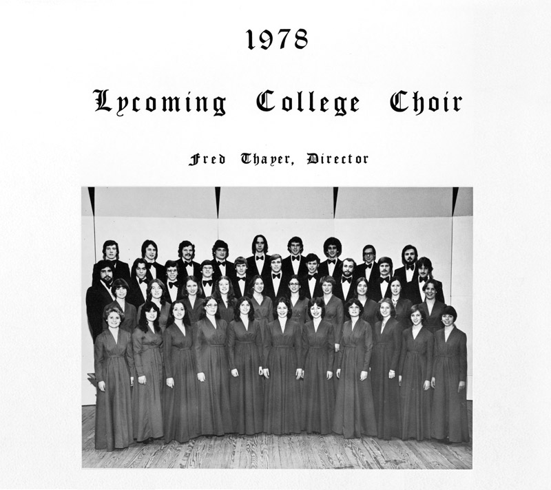 1978 Lycoming College Choir